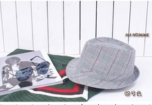 cheap checked hat