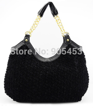 4 Colors Free shipping 2015 New Look Inspired Charming  Women Handbags Designer Flowers Tote Bag Fashion Shoulder Bags /QQ776
