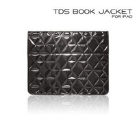 wholesale and retail for iPad Case Support Fashion book jacket (carbon fiber crystal pattern ) free-shipping