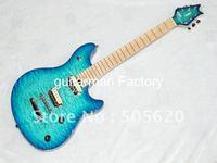 Wholesale Newest Bule Wave EVH Wolfgang Electric Guitar Maple Fingerboard HOT