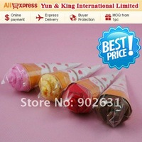 Free Shipping/Accept Credit Card/10pcs Assorted Colors New novelty items sweet icecream towel children kids gift