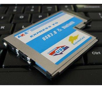 Express Card ExpressCard 54mm to USB 3.0 + Bluetooth 2.0 Combo Adapter Card