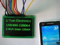 2.4 inch Green 128x64 OLED display module OLED module OLED