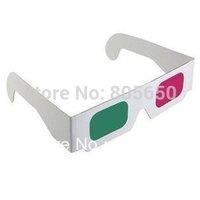 Wholesale 100pcs/lot green magenta 3D glasses  green/magenta 0.16mm PET