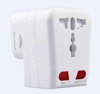 Universal Fused Travel AC Socket Plug Adapter USB Port