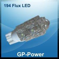 free shipping+whole sales+10pcs/lot,194 piranha flux 9 LED, car interior lamp, car side light