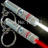 10pcs/lot led light Red Laser Pointer Flashlight Keychain light Mini Torch freeshipping Wholesales!
