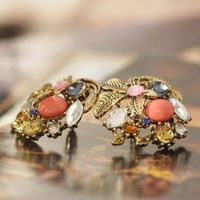 ES054 Women's fashion vintage  stud pendant earrings for women wholesale charms 11A