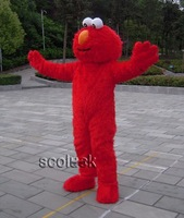 Free ship+ Brand NEW Red Street monster Elmo MASCOT CARTOON COSTUME ADULT SIZE( Retail && wholesale)