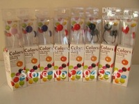 FOR MP3/MP4/PC 200pcs 9 colors 3.5mm Brand New Chocolate Candy In-Ear Earphone