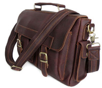 J.M.D Wholesale Price Business Style Vintage Leather Satchel Laptop Messenger Bag Handbag Briefcase For Men # 6037
