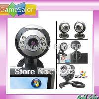8.0 Mega 30 M USB 6 LED Webcam Web Cam Camera Laptop Computer With Mic New free shipping  #8099