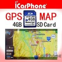 4G SD memory card with Car GPS iGO 8 map software program for Europe for Car DVD Player GPS navigation+FREE SHIPPING