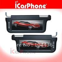 Car monitor 2 pcs of 10.2 inch SUNVISOR LCD MONITOR TFT LCD screen Auto monitor +LCD monitor+Car Video + FREE shipping