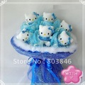 2012 new style romantic Hello Kitty bouquet for Wedding,Valentine, Birthday as Gift 6pcs hello kity/set 1set/lot