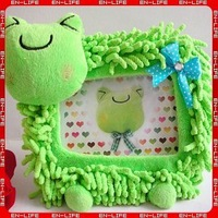 "Free shipping!! 4-style Cute Plush Frog Kerropi photo frame, 6""/7"" picture frame Home Decoration Good Gifts"