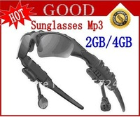 New 4GB Sunglasses Mp3 Player Free shipping