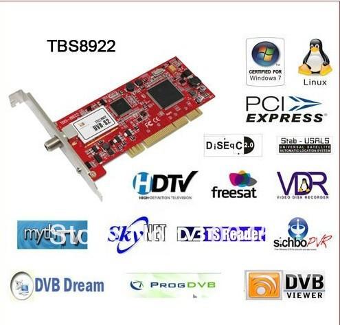 Free shipping,New TBS HD 8922 Satellite TV PCI card ,DVB-S2/DVB-S, H.264, 1080P,TV Tuner PCI Card(China (Mainland))
