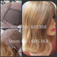 wholesales beautuful 12inch straight jewish wig kosher wig mongolian vigin hair silk top hidden knots