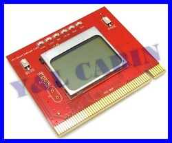 LCD Display PCI Computer PC Analyzer Tester Diagnostic Debug POST Card, Free Shipping, Brand New, Wholesale/Retail(China (Mainland))