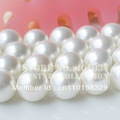 Free shipping AAA 10mm white shell pearl strand(16inch/40cm) for making bracelet/necklace jewelry, 5pcs/lot