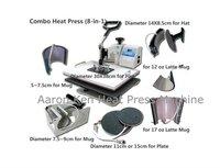 Combo Heat Press Machine (8 in 1),press machine,mug/cap/plate press machine,heat transfer machine,sublimation machine