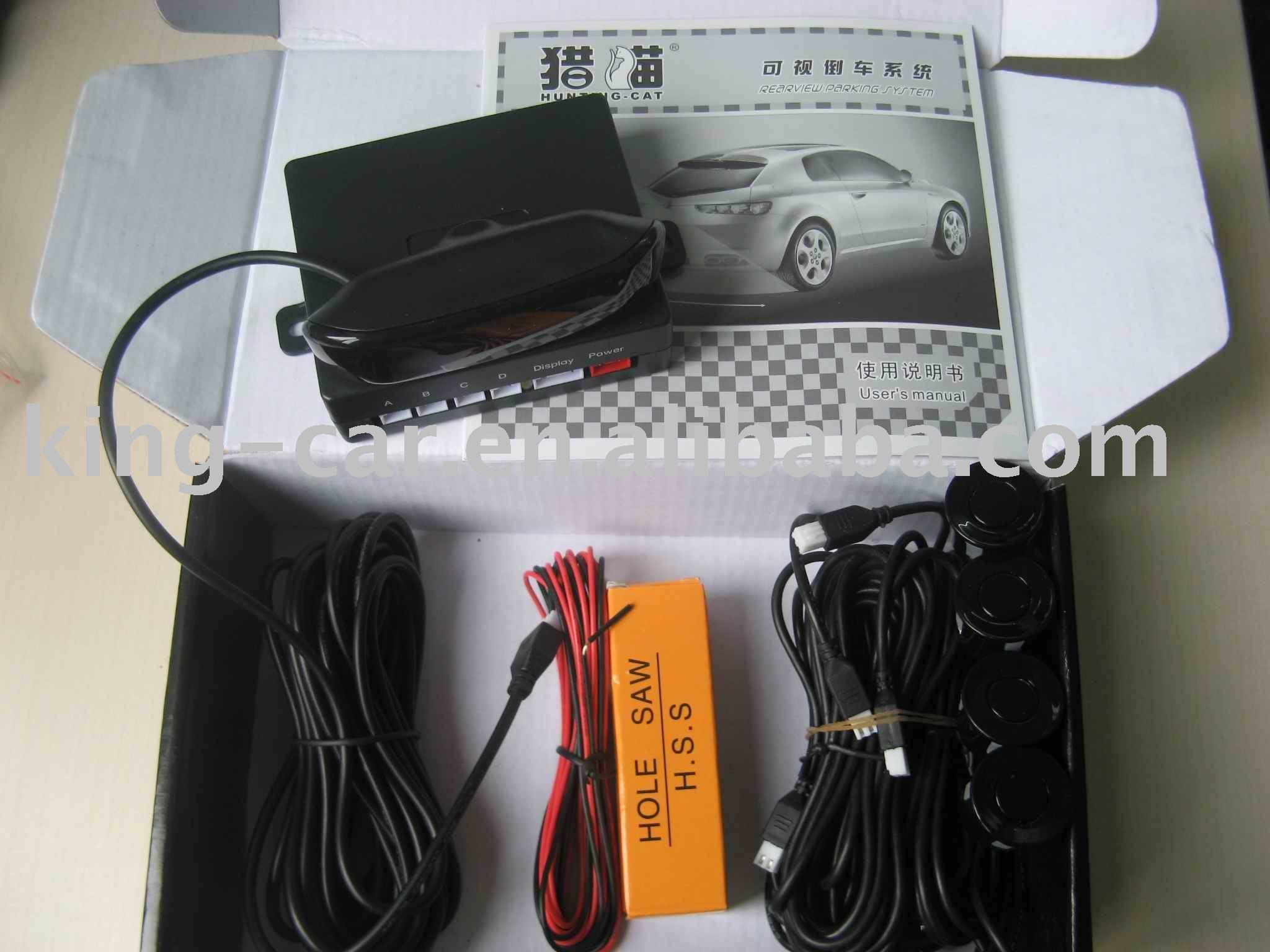 brand new 12Voltage ultrasonic waterproof reverse sensor buzzer alart LED display car parking sensor PS-848(China (Mainland))