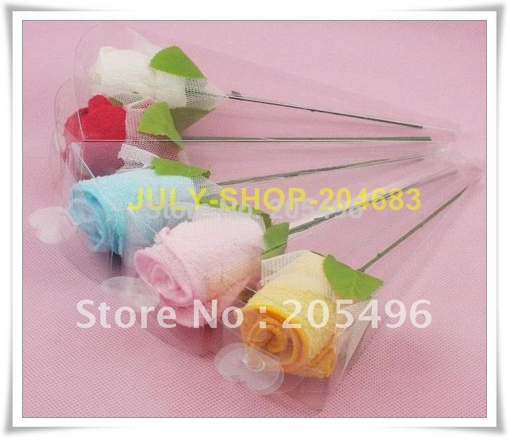 high quality! promotion rose cake towels wedding gifts towel 100% cotton(China (Mainland))