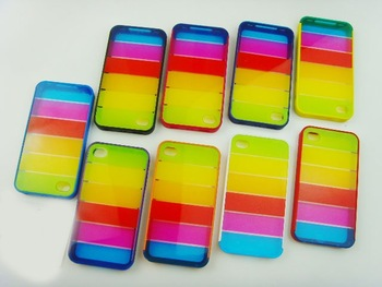 Lims rainbow hard case mobile phone case for 4G  30pcs/lot
