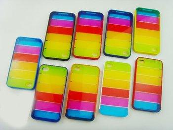 Lims rainbow hard case mobile phone case for 4G  30pcs/lot