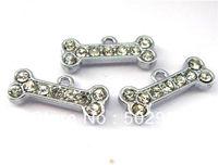 50pcs 20x6mm Dog Bone Hang Charms Fit Pet Collar Necklace Bracelet Cell Phone Charms