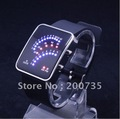 wholesale fashion style led watch,binary watch,tokyo flashing watch 5pcs/lot Freeshipping