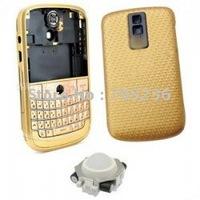 Free Shipping Full Housing Set (GOLD color) for Blackberry Bold 9000 Full Housing Cover for BB9000