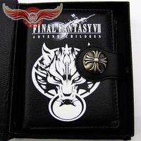 Anime Final Fantasy wolf purse leather black wallet NIB gift