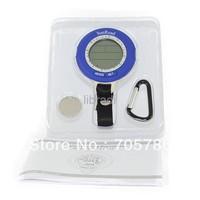 1pcs Multi Waterproof Fishing Barometer Altimeter Weather Thermometer C/F Clock Blue Backlight