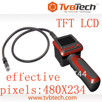 "TVBTECH Low price flexible camera endoscop and 2.4"" TFT LCD color screen"