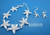 star wholesale  earrings+ brecelet  chain 925 Sterling Silver S191