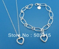 wholesale  nacklace+brecelet chain 925 Sterling Silver S213