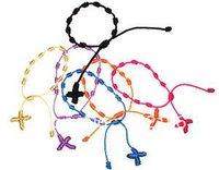 50pcs Hand Made Knotted Rosary Bracelets - Pulseras Decenarios