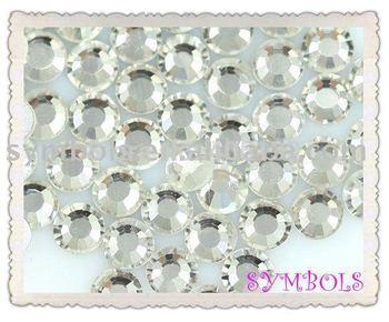 SS8---2.4MM Free Shipping 1440pcs Crystal SS8/2.4mm Flatback Crystal  Nail Rhinestone Nail Art