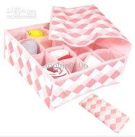 Hot sale in 16 lattices storage box case stool storage pockets underwear storage box