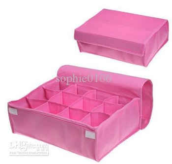 with soft cover Best sale underwear storage box Organizer Box Closet shoes socks storage box