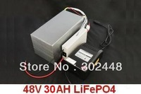 48V 30AH Lithium Battery LiFePO4 Battery With Bag, BMS, Fast Charger electric bicycle motor Wholesale Free Shipping