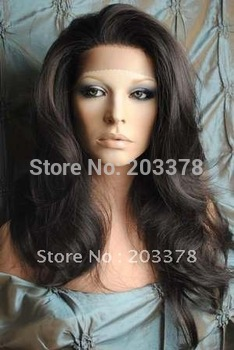 "STOCK New Gorgeous 18"" color 2#  high quality Lace Front wigs"