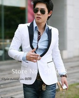 Promotional ! ! new arrival Korean Men's Slim Suit jacket, a single-breasted business Formal suit white size M L XL