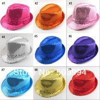 Wholesale New Unisex Sequins caps hip-pop jazz hats (MZZ1001)