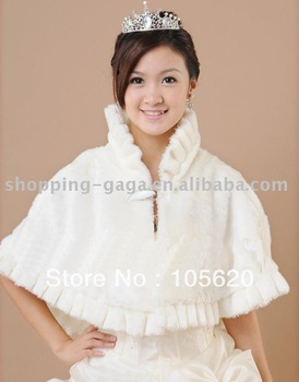 Bridal wedding accessories Artificial/man-made fur shawl/cape 2013 New Spring Girl's Wedding wear Spring Hot Sale