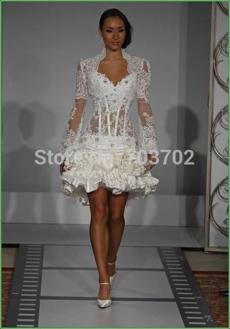 Wedding Dress Short Corset : Morden transparent corset short wedding dress g