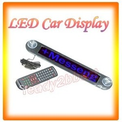 12V LED Message Digital Moving Scrolling Car Sign With BLUE Light SMTB0030(China (Mainland))