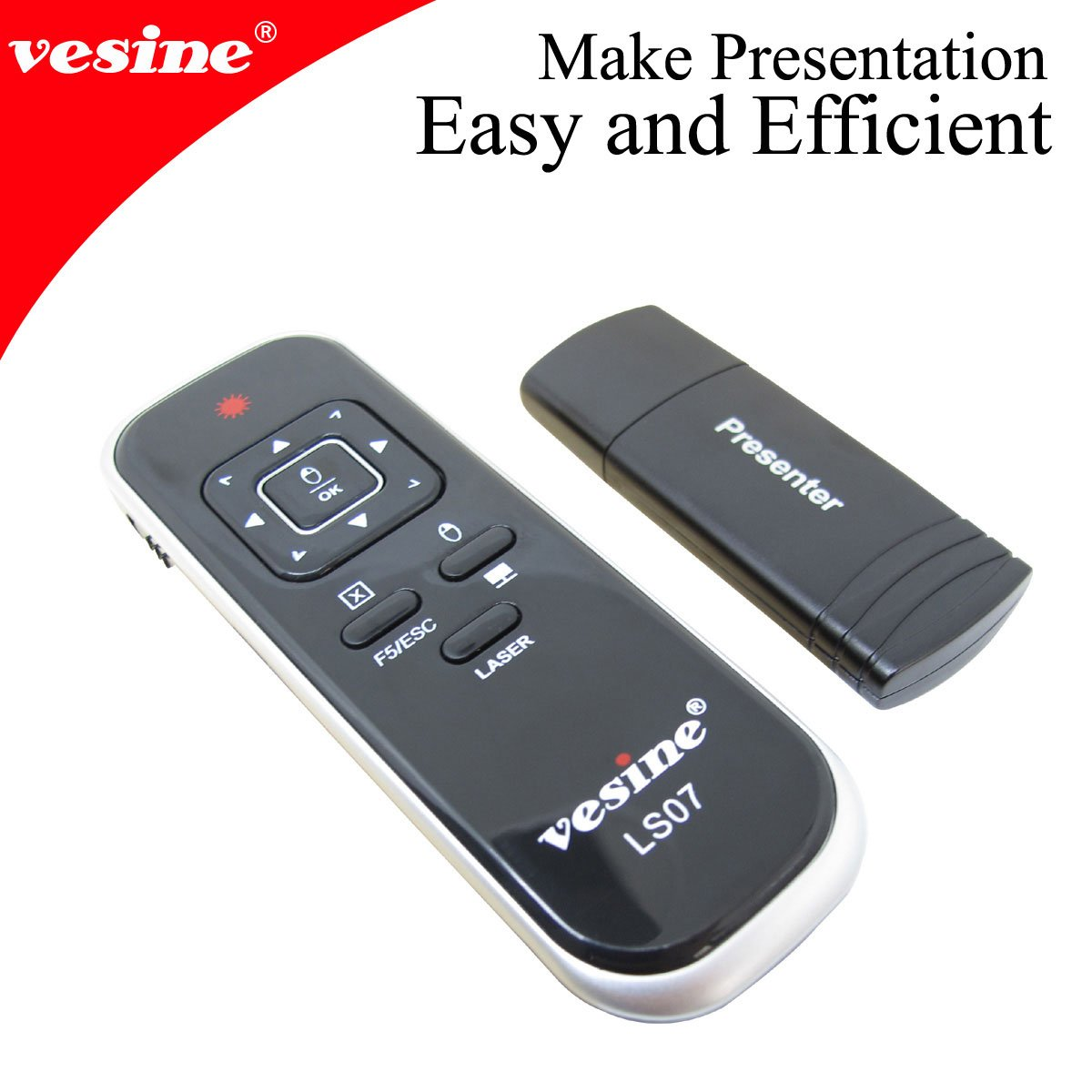 Free Shipping!*Guranree 100% wireless mouse presenter 1pc LS07 with hyperlink and full/black screen for teaching and meeting(China (Mainland))